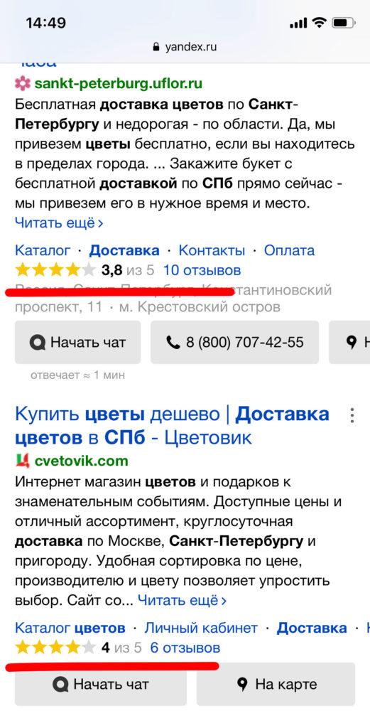 Поднятие рейтинга на Яндекс Картах