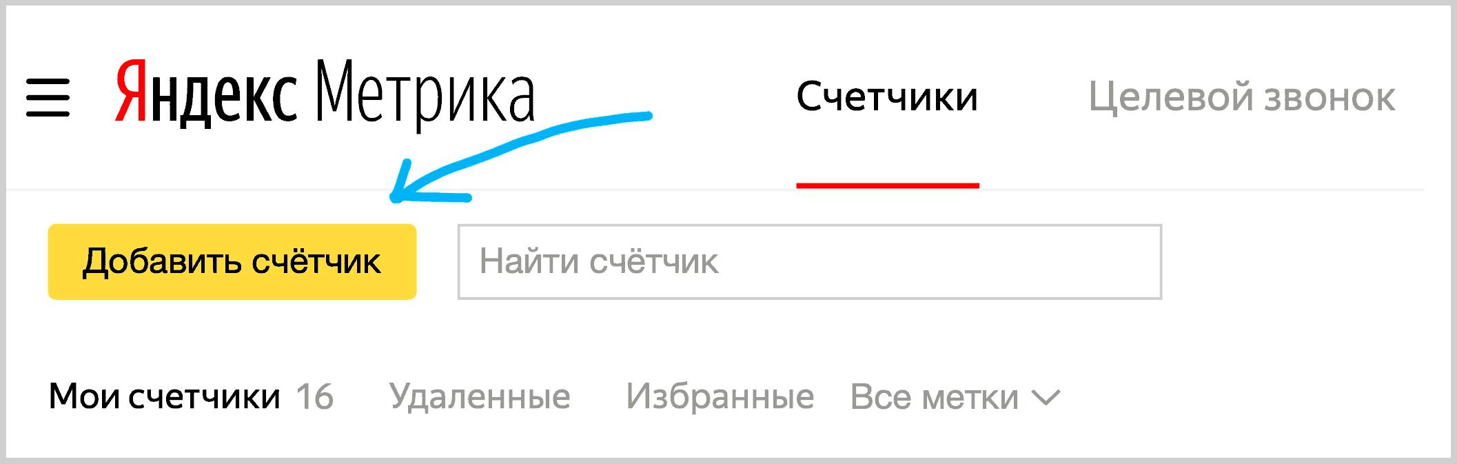 Аккаунт в Яндекс Метрики